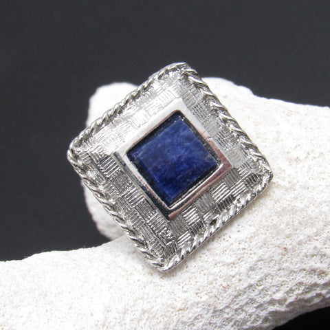 Vintage Blue Tie Tack Men's Jewelry