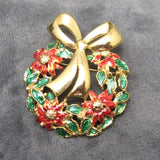 Christmas Wreath Brooch Danecraft