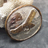 Vintage Buckle Eagle Mountains Handmade OOAK Signed