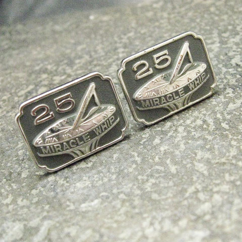 Vintage Cufflinks Miracle Whip 25 Year Award Sun Dial