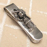 Sterling Money Clip Tribal Chief Ethnic