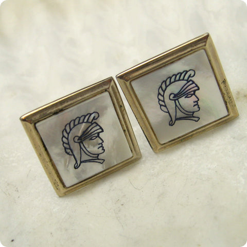 Vintage Cufflinks Mother of Pearl Centurion