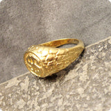 Double Dollar Sign Nugget Ring Vintage Size 11.5