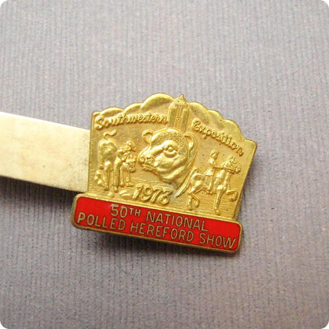 Tie Clip Southwestern Exhibition 1973 Hereford Show Anson