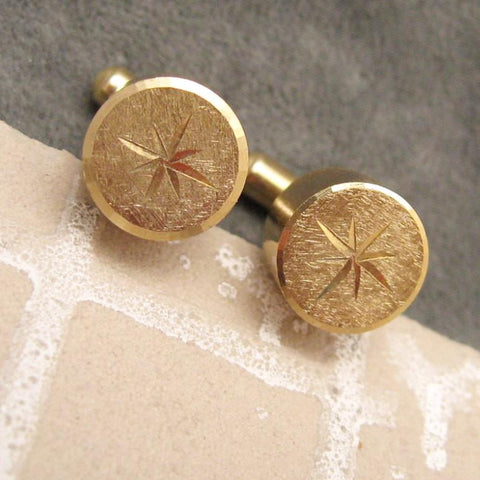 Vintage Star Cufflinks Unusual Men's Jewelry