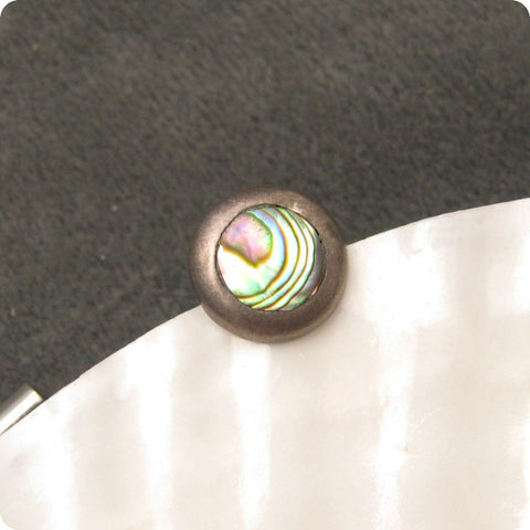 Sterling Abalone Tie Tack Eagle 3 Mark