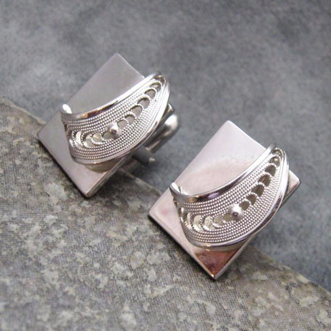 Vintage Cufflinks Filigree Accessories