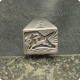 Vintage Sterling Ring Southwestern Deer