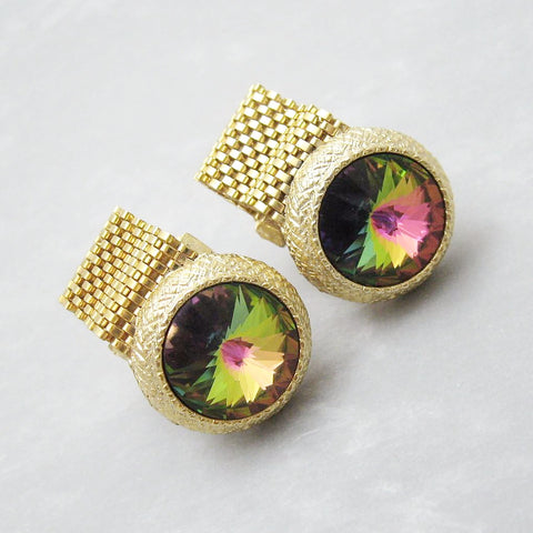 Large Vintage Cufflinks Watermelon Rivoili Dante Jewelry