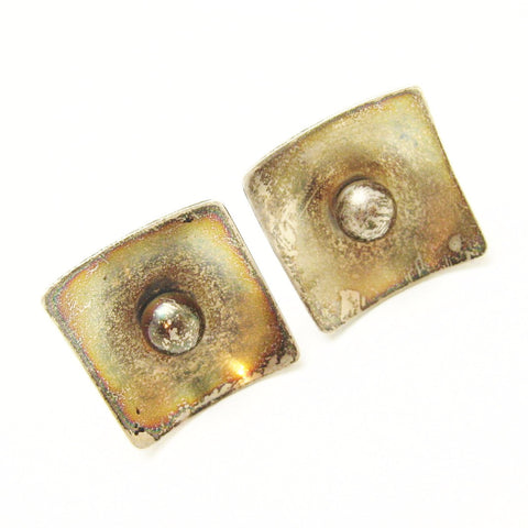 Large Sterling Mod Cufflinks Vintage Accessories