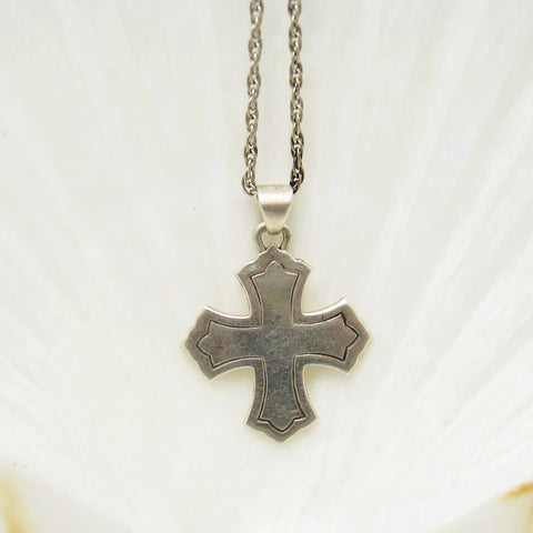 James Avery Sterling cross necklace