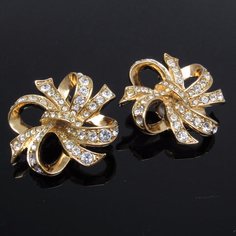 Rhinestone Bow Earrings Kenneth J Lane Lustrous Bow Jewelry