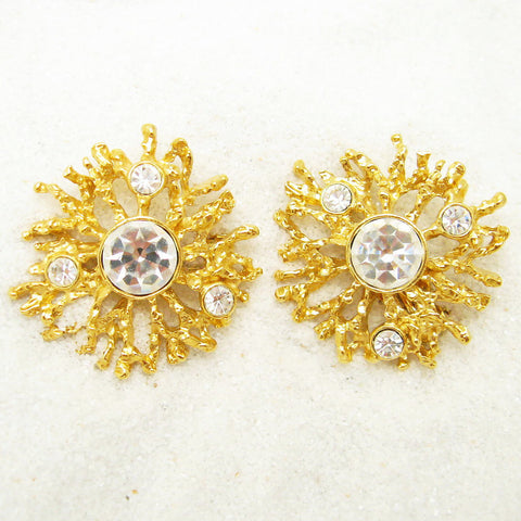 KJL for Avon rhinestone earrings 1