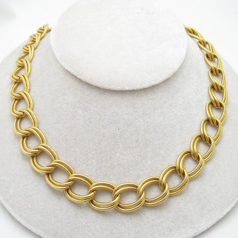 Wide Double Link Chain Necklace Anne Klein
