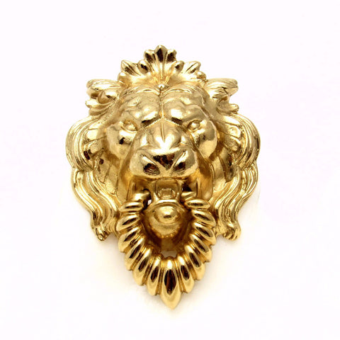 Vintage Napier Lion Head Brooch Doorknocker Bold