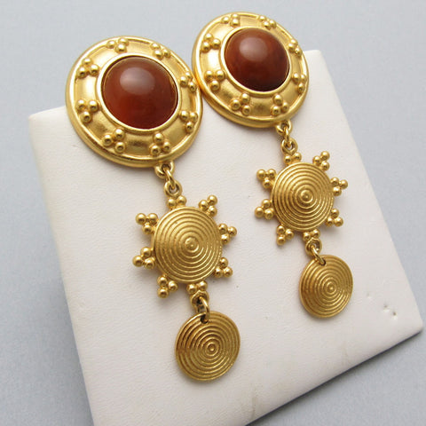Long Etruscan Earrings Liz Claiborne Jewelry