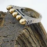 Dian Malouf Bridge Ring, Sterling and 14K Gold