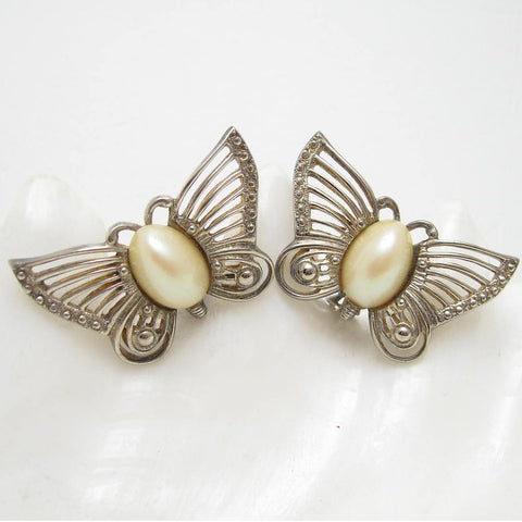 large vintage butterfly earrings