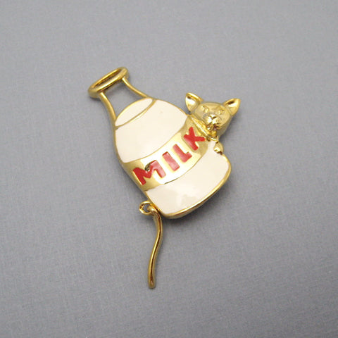 Cat Brooch Milk Jug Jewelry
