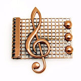 Renoir Copper Treble Clef Brooch Music Jewelry