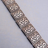 Wide Sterling Panel Bracelet Silver Jewelry