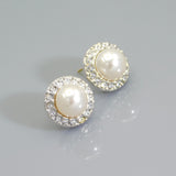 Swarovski Pearl Rhinestone Stud Earrings