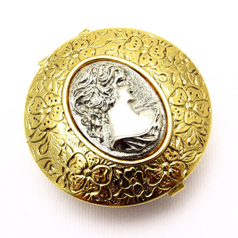 1928 Brand Cameo Pill Box Original