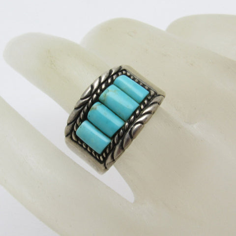 Sterling Turquoise Ring Band Carolyn Pollack Jewelry