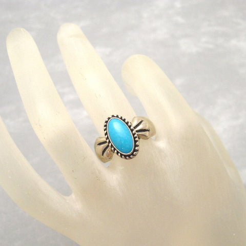 Carolyn Pollack Sterling Turquoise Ring Relios