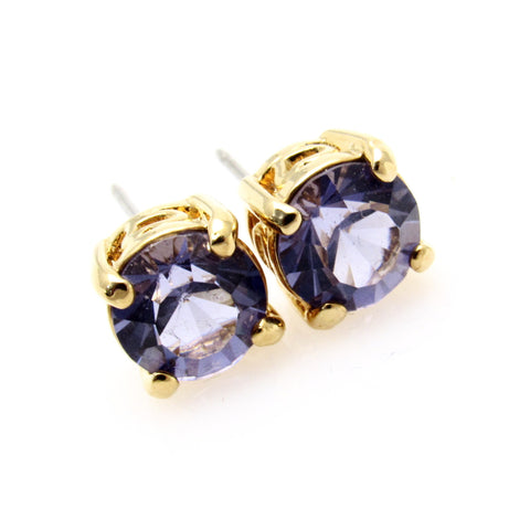 Joan Rivers Stud Earrings Purple Jewelry E7340