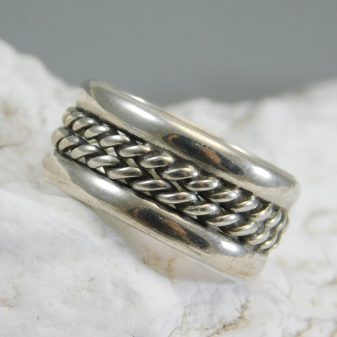 Sterling Rope Band Ring