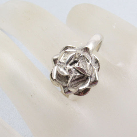 Blooming Rose Sterling Ring Size 12 Vintage Jewelry
