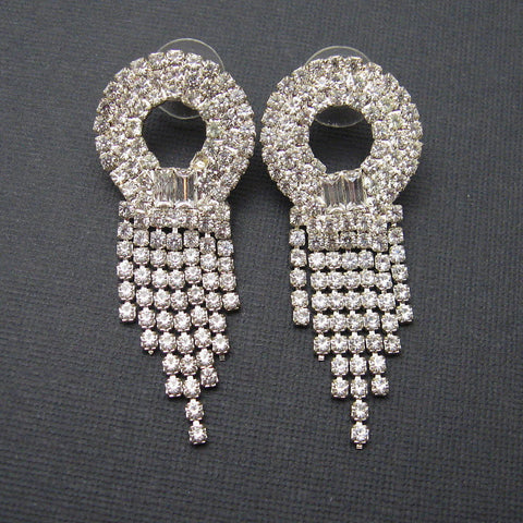art deco rhinestone earrings 3