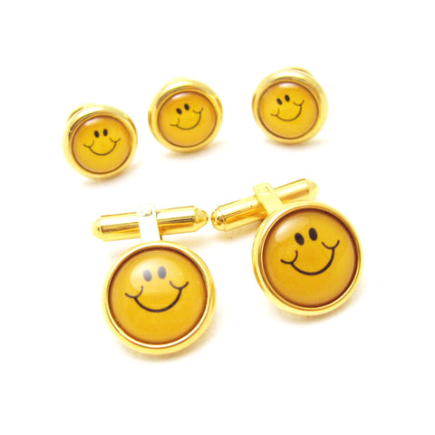 Vintage Cufflinks Smiley Face Cuff Links 3