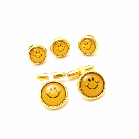 Vintage Cufflinks Smiley Face Cuff Links