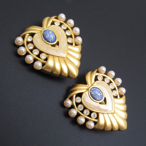 Heart of Hollywood Earrings Vintage Elizabeth Taylor for Avon