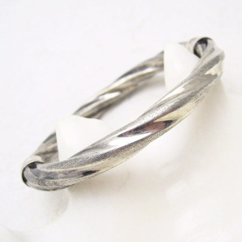 Hinged Sterling bangle bracelet Twisted