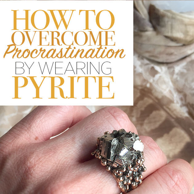Crystal for Procrastination Pyrite
