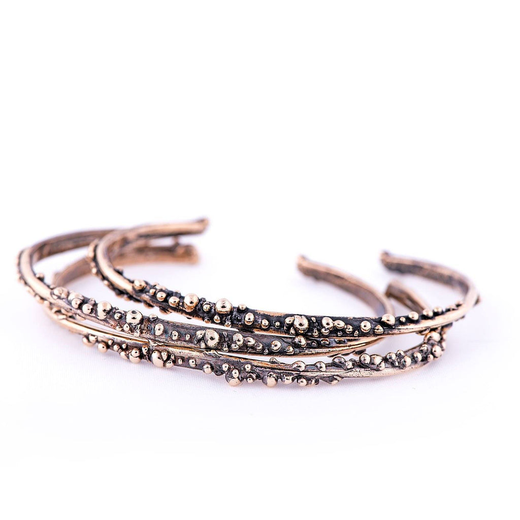 Antique Bronze Bracelet - Stacking Cuff - Giardinoblu Jewellery Milan