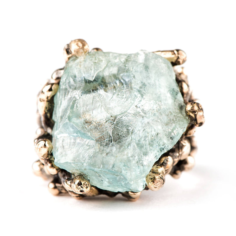 Aquamarine Ring - One of a kind Statement - Giardinoblu Jewellery Milan