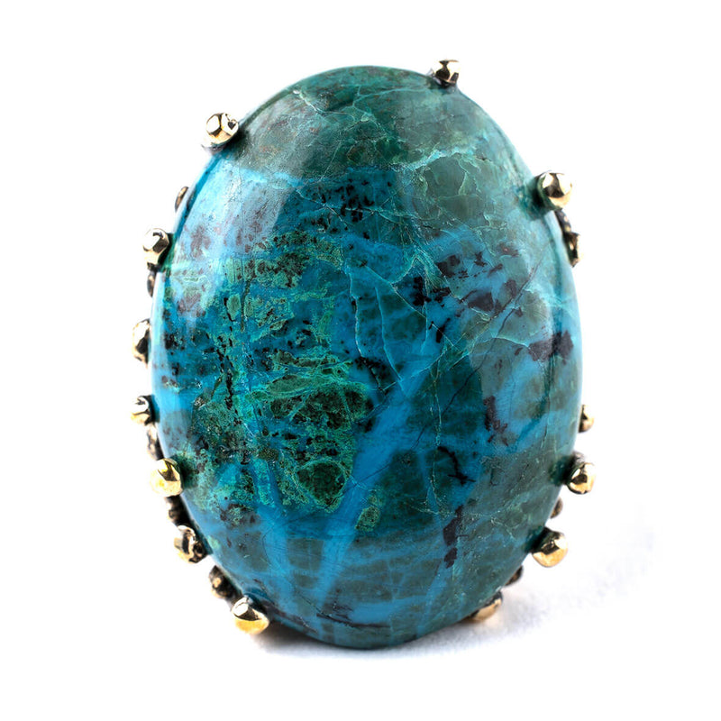 Chrysocolla Ring - Unique Piece