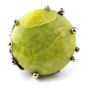Green Opal (Pistachio) Statement Ring - Unique piece