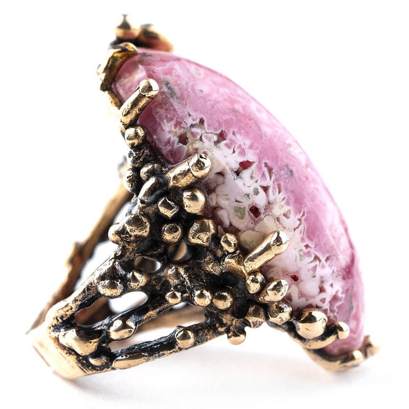 Rhodochrosite Ring - Unique Piece