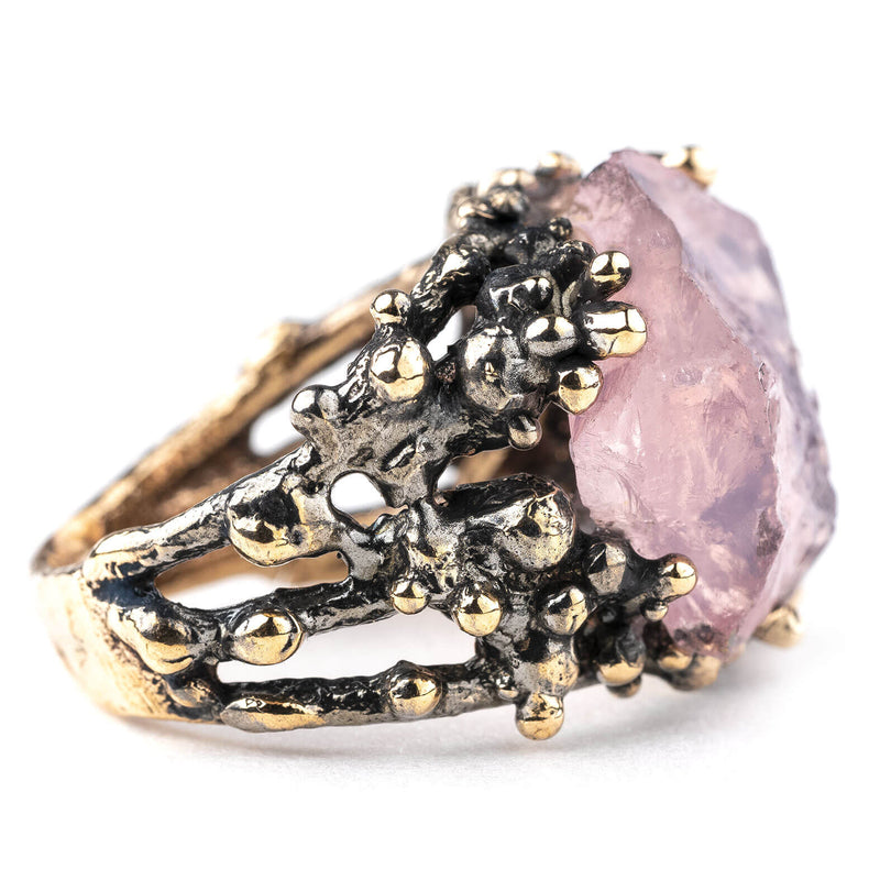 Rose Quartz Statement Ring - One of a Kind