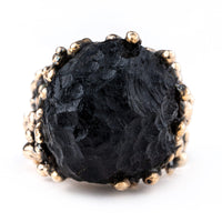 Tektite Ring - One of a Kind Healing Jewel by Giardinoblu