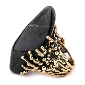 Black Jade Ring, Jewelry for spiritual Healing