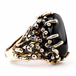 Black Onyx Ring - Unique Piece