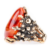 Carnelian Ring - One Of A Kind - Giardinoblu Jewellery Milan