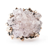 Rose Quartz Ring - One of a Kind - Giardinoblu Jewellery Milan