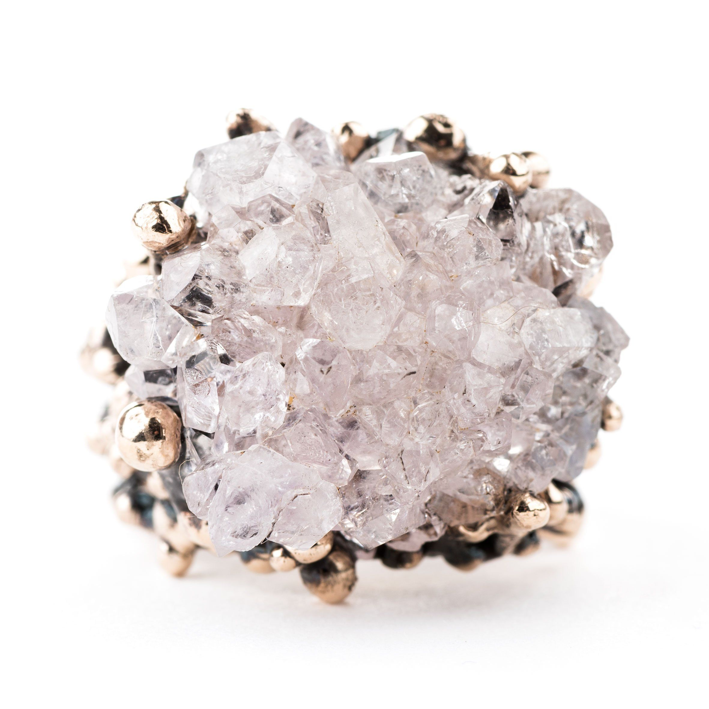 rose electroformed lavender q silvia black designs tourmaline ring jewelry peluso creations quartz rings s sold